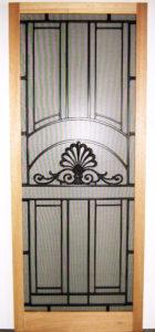 Victorian Ash Screen Door with Metal Inserts